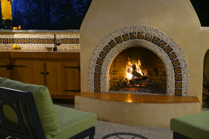 Get inspired by our custom outdoor spaces for Spanish outdoor fireplace